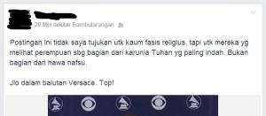 """Status Anti Islam """"Fasis"""""""
